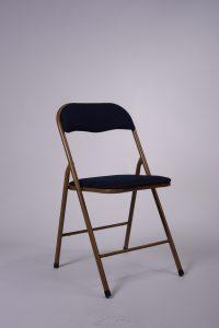 Chaise pliante tissu bleu marine