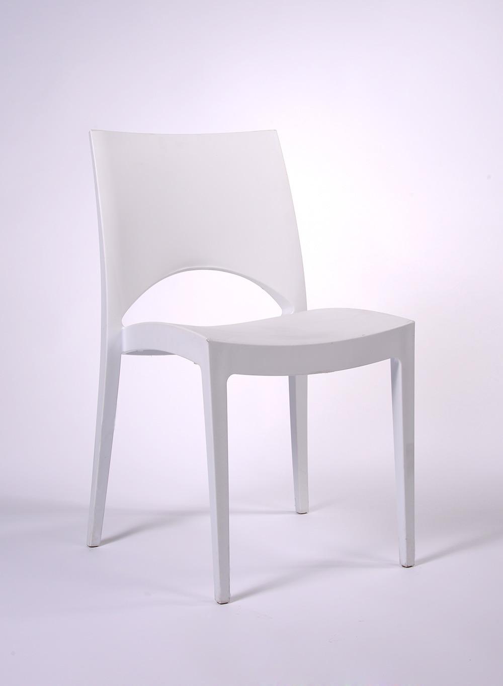 chaise paris blanche en polypropyl ne durand location. Black Bedroom Furniture Sets. Home Design Ideas