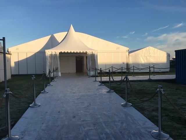 Ganil (1) Location de chapiteau et tente de réception avec le mobilier pour l'inauguration du GANIL à Caen