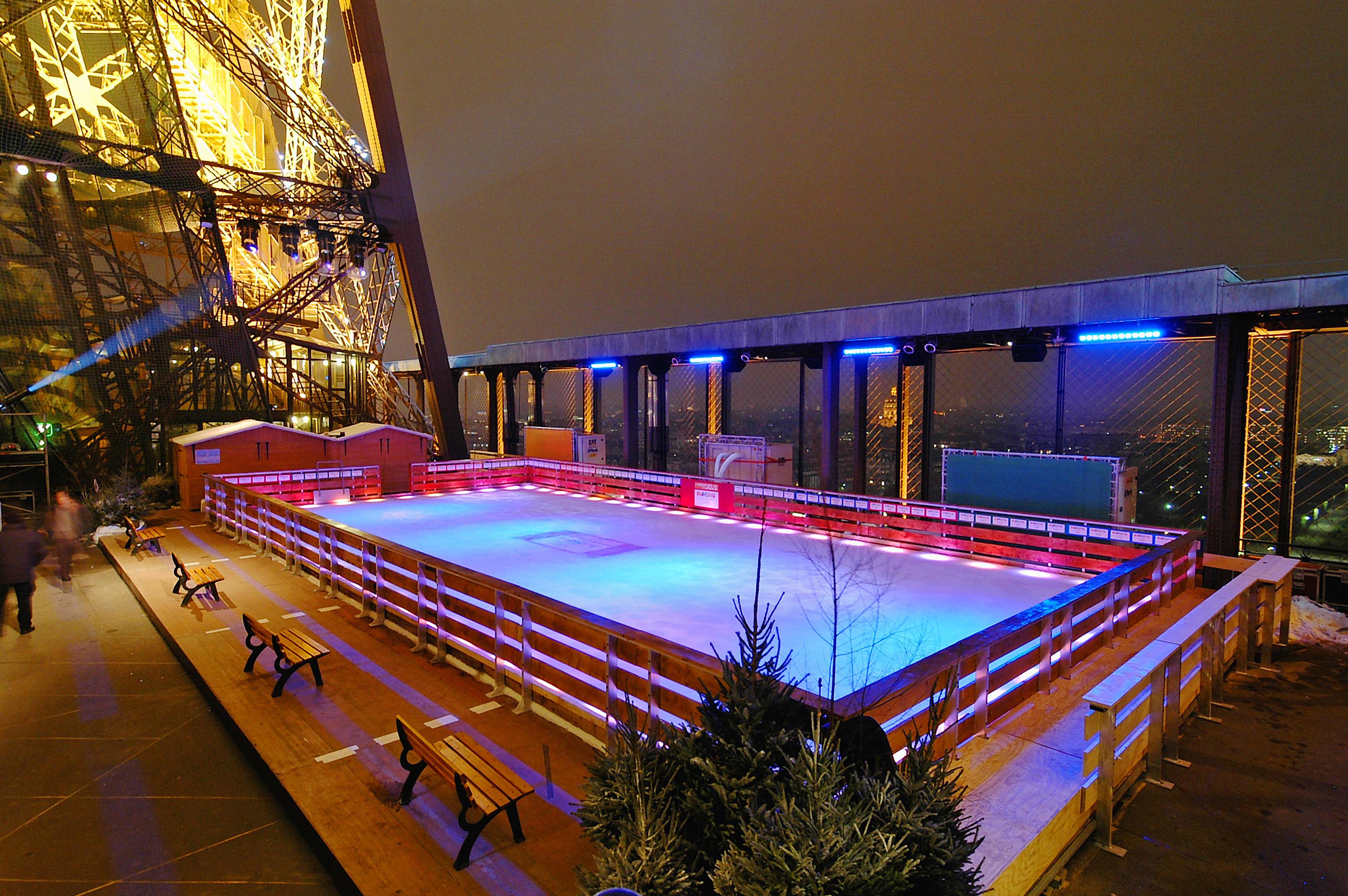 Location de patinoire d'extérieur installation
