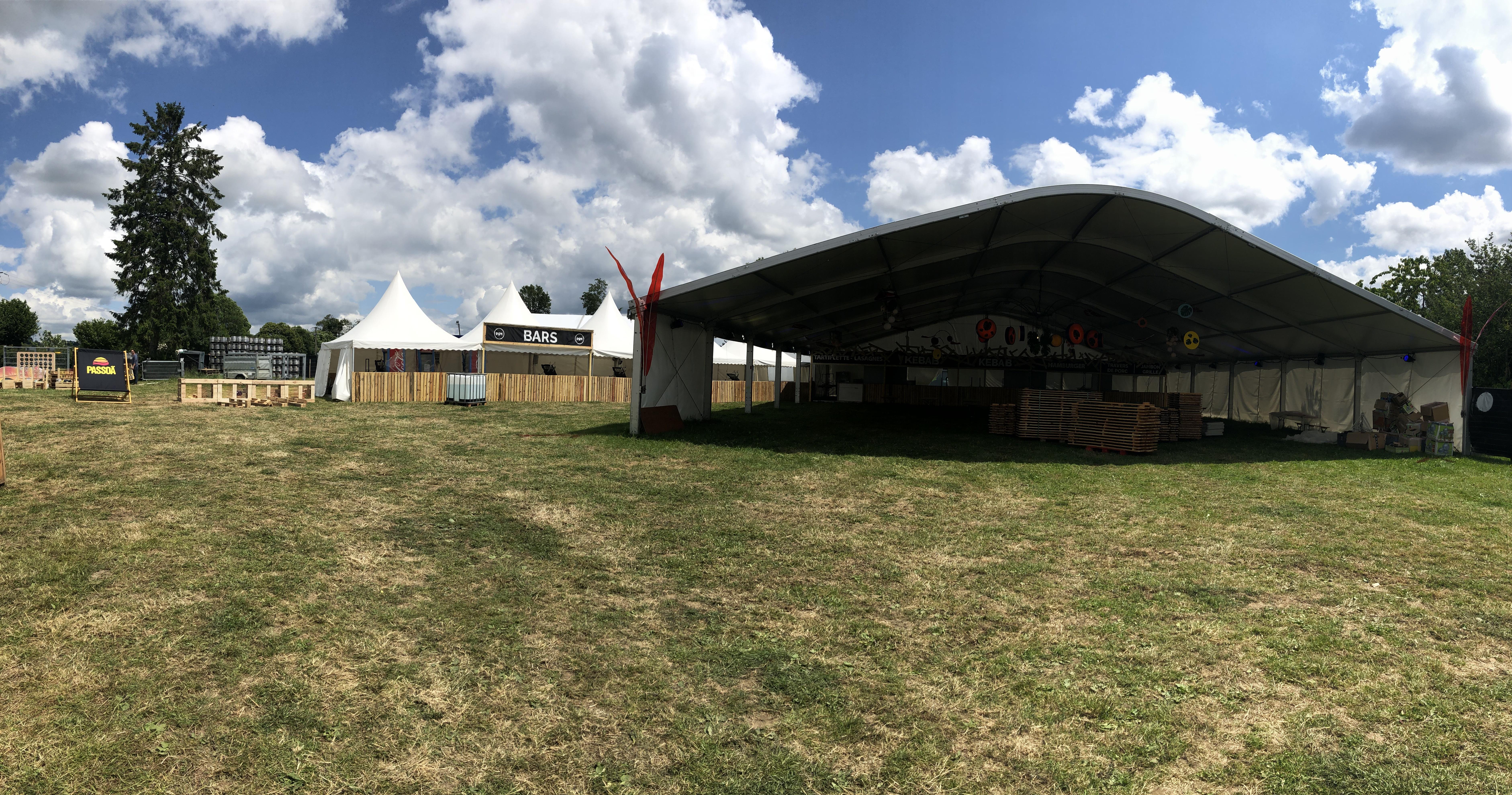 Événementiel - Sport&culturel - Tente arquée 20M - Structure Blanc