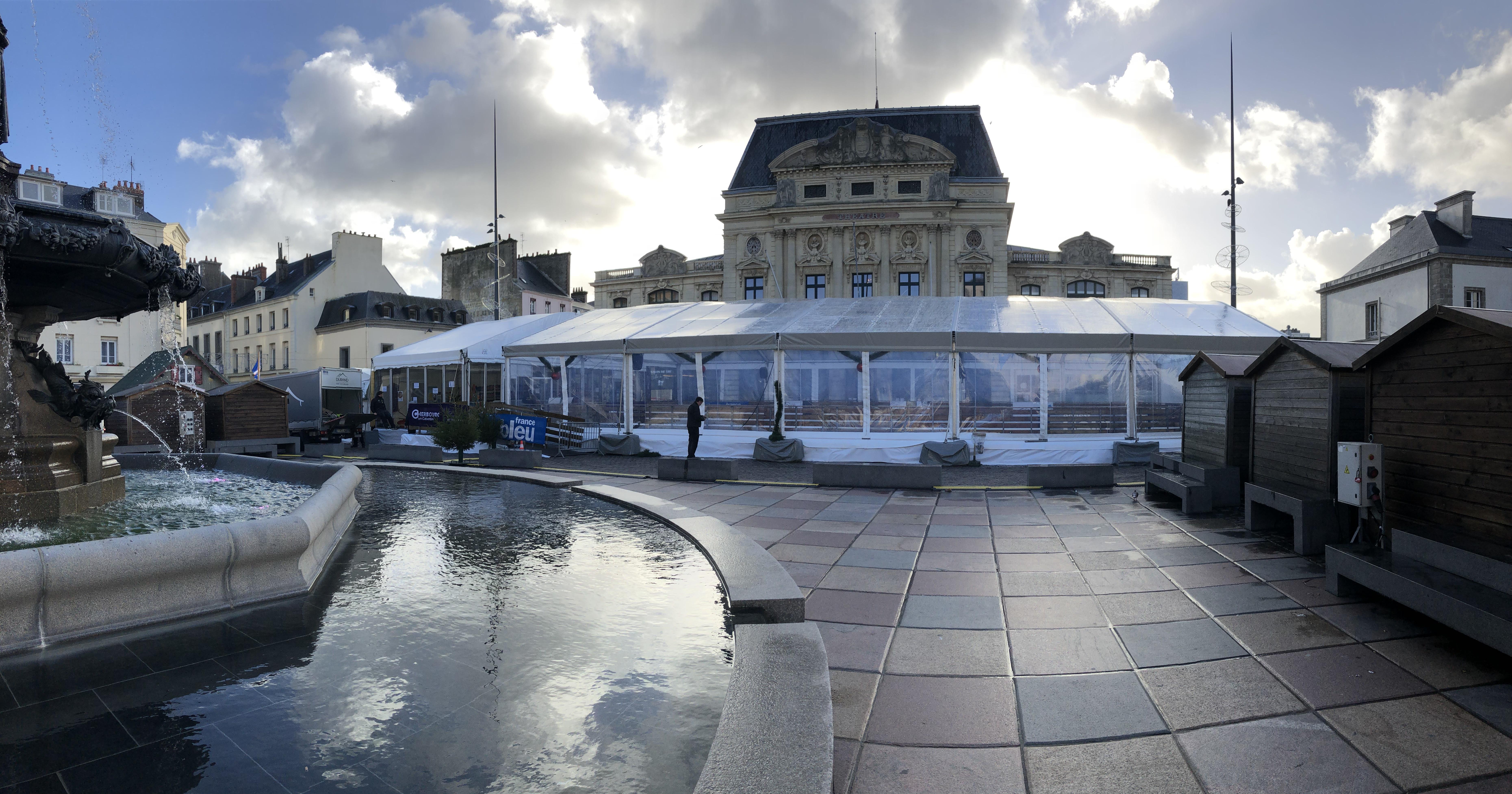 Événementiel Patinoire Cherbourg Tente arquée 15M Structure Cristal