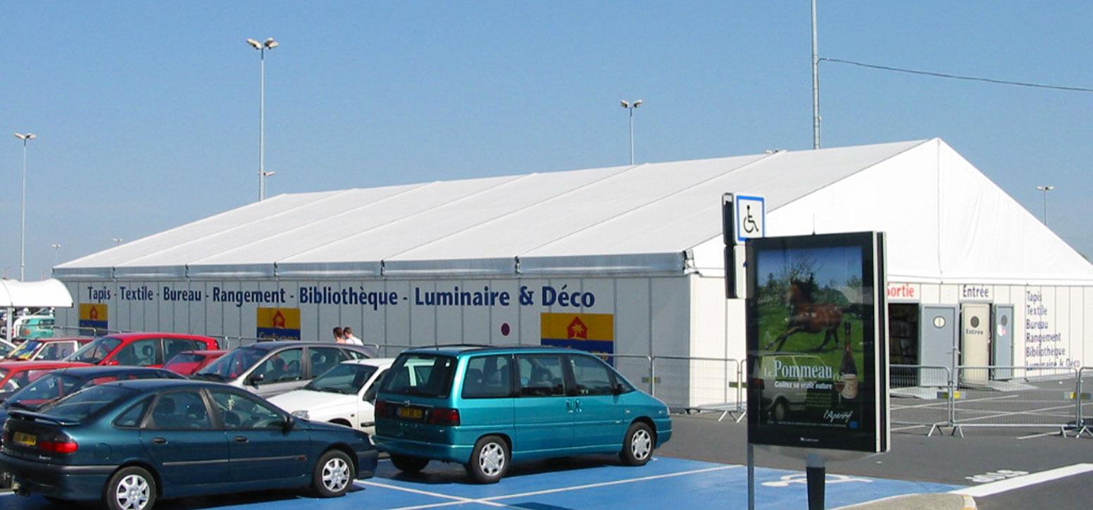 Location de magasin temporaire pour la grande distribution