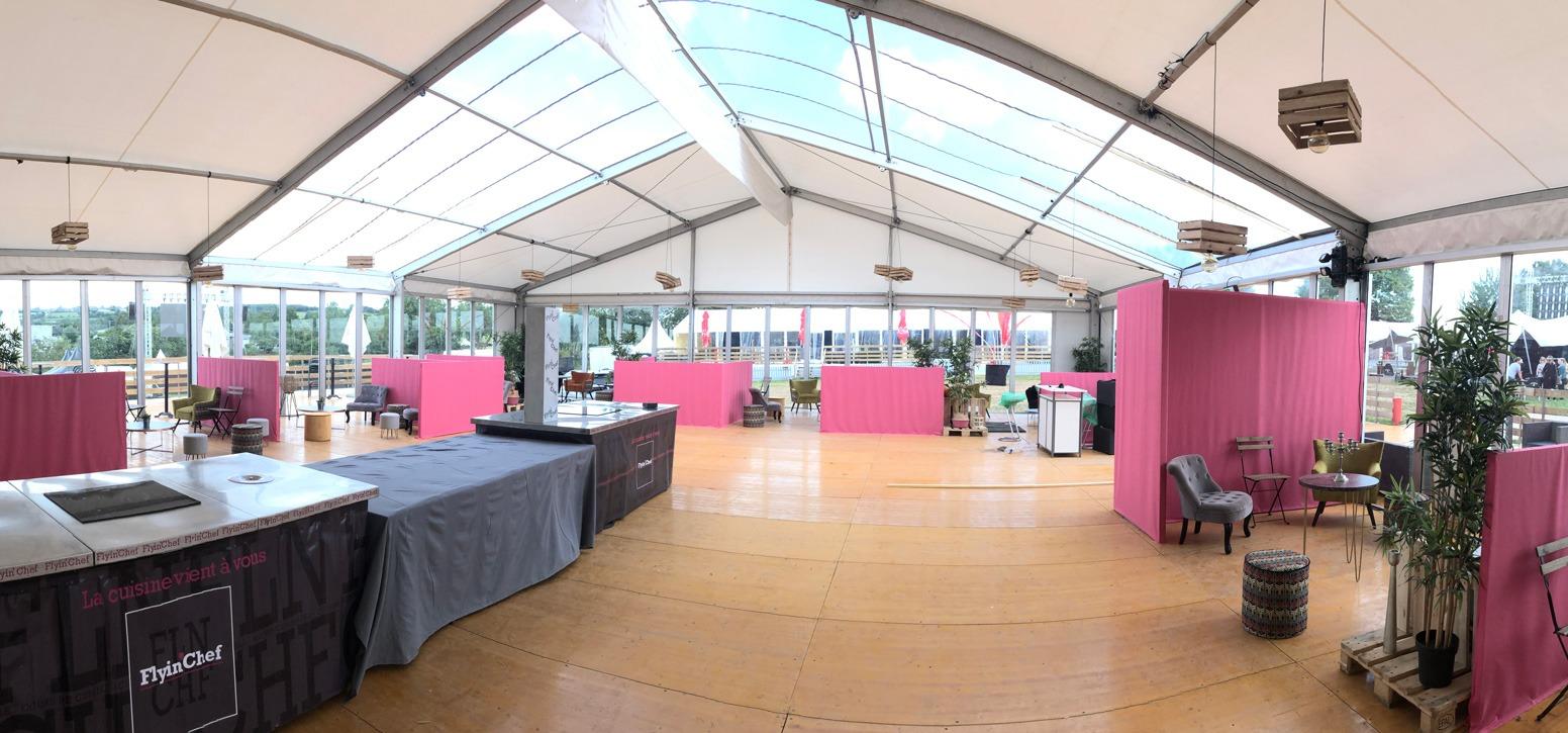 Amenagement - Sport&culturel - P2N - Bipente 15M - Structure Cristal Village partenaire - décoration