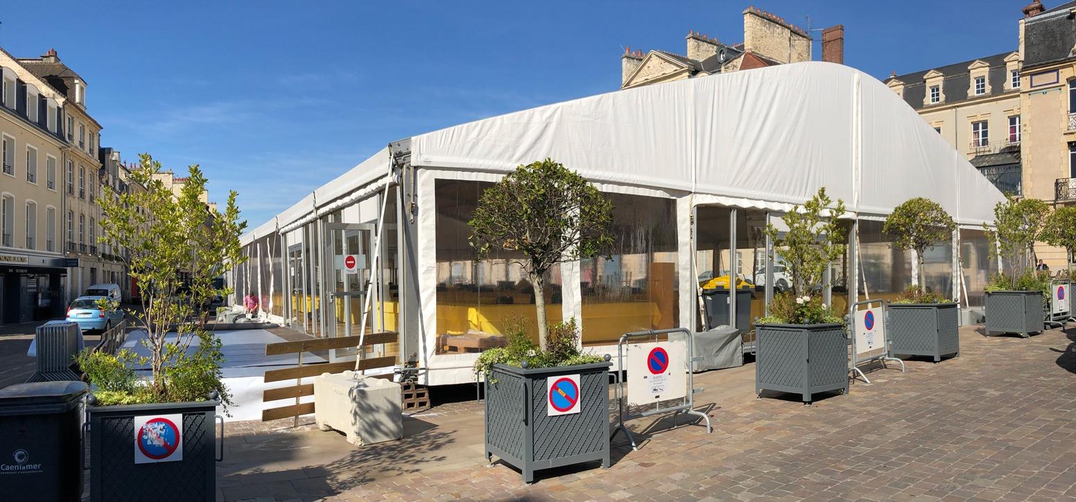 Slide Salon Foire Salon-du-livre Caen - Arquee 20M - Structurette Blanc